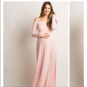 PinkBlush Maternity Maxi Dress